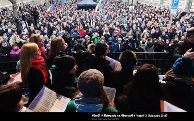 17. listopad 2019: Sbor UK vystoupí u Hlávkovy koleje a na Albertově